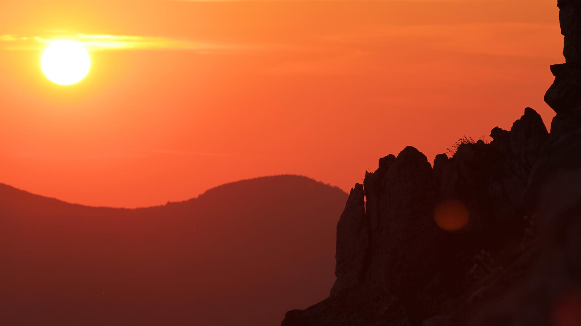 За Балкана и хората – Залез над връх Исполин